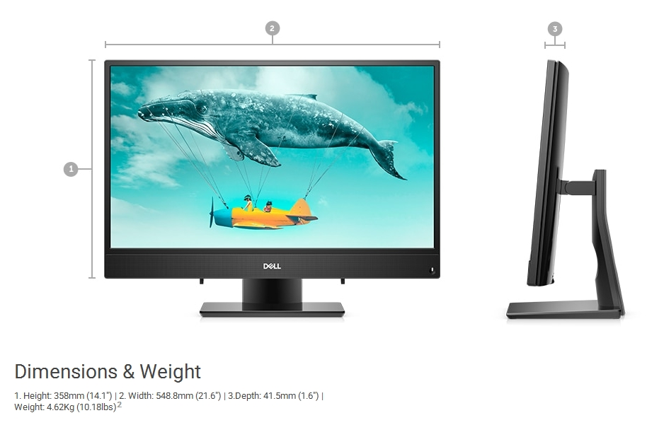 Specification sheet (buy online): DTDEI3477I581W10SL Dell Inspiron