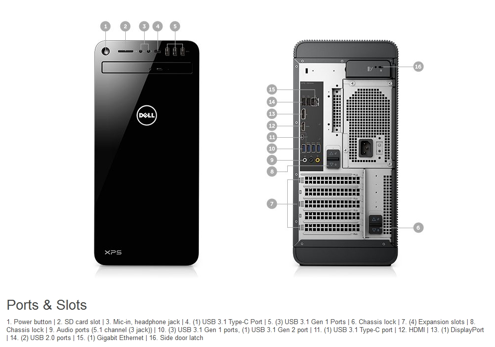 Specification sheet (buy online): XPS 8930-I78700-162HD DELL XPS