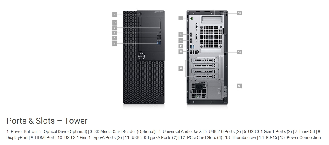 Specification Sheet Buy Online Dtden029o3060mt Dell