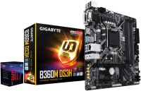 8700 + B365M-DS3H Gigabyte B365M-DS3H B365 Express Chipset Gen 8 LGA 1151 Motherboard and Intel i7-8700 CoffeelaKe-s 3.2Ghz LGA 1151 Processor
