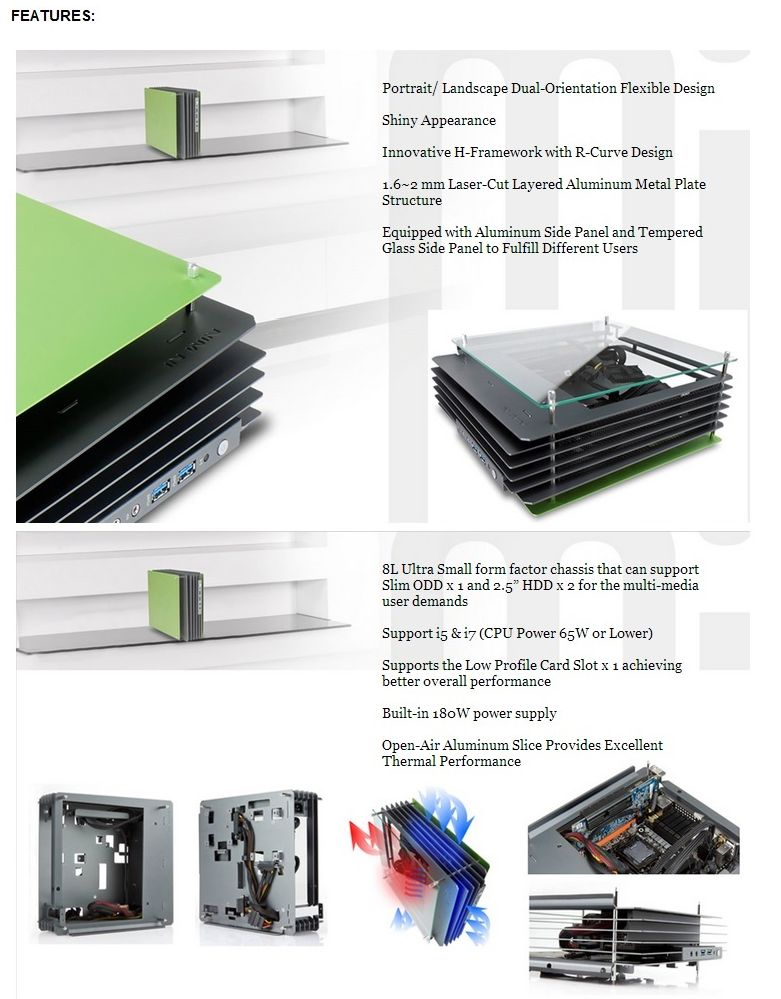 Specification sheet (buy online): INW-H-FRAME-MINI-GS IN WIN H-Frame ...