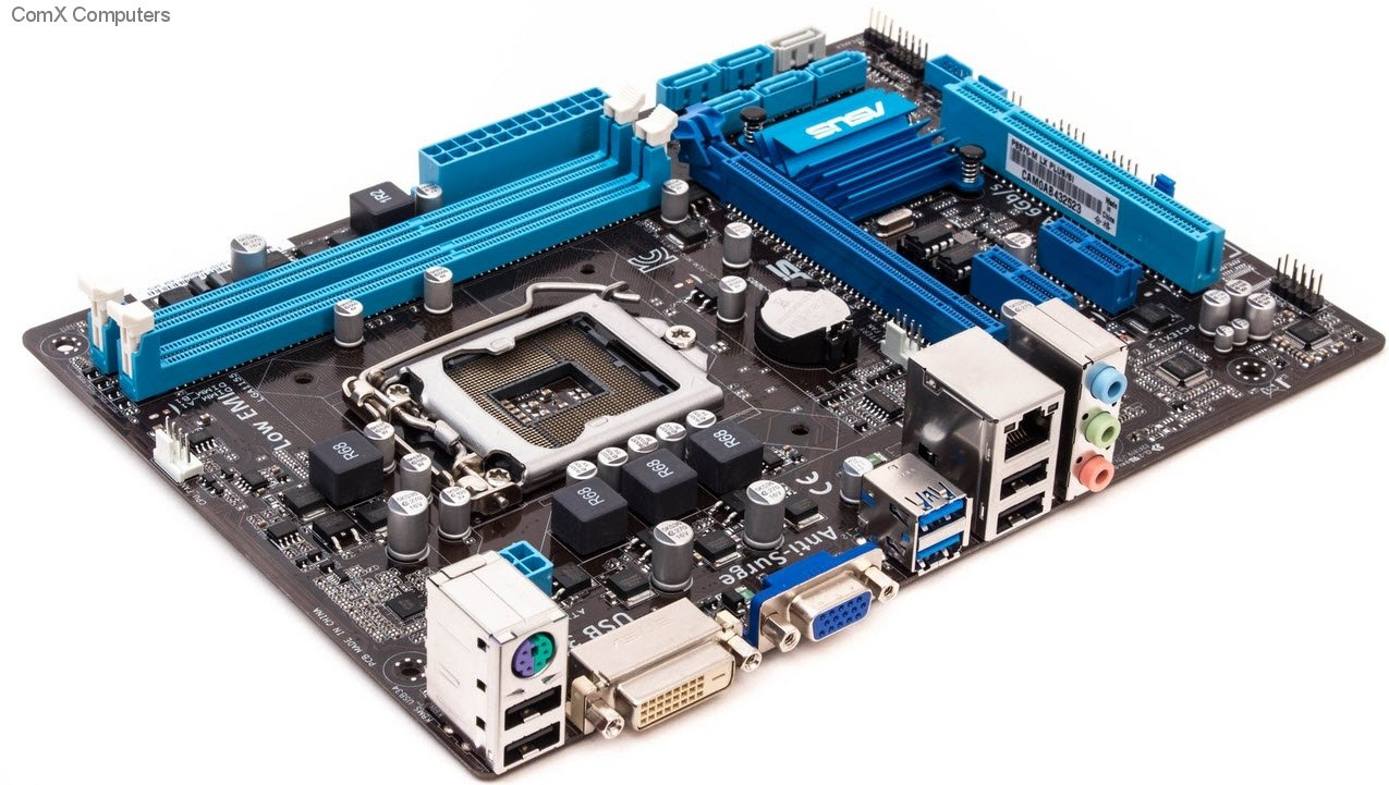 Overview of the motherboard ASUS P8B75-M LX