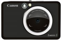 CZOEMINISMBK Canon Zoe Mini S Matt Black 8 Megapixels Mobile Instant Camera/ Printer