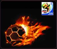 7666234232438 Esquire-Official FIFA 2010 Licensed Product-BALL-on-FIRE Mouse Pad