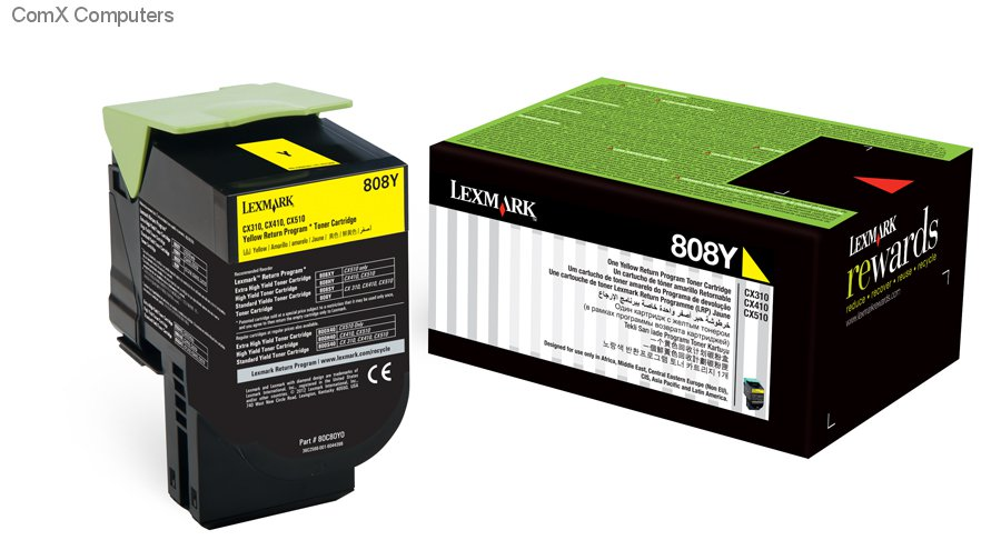 New Lexmark 808HYE Yellow High Yield Corporate Printer Toner Cartridge