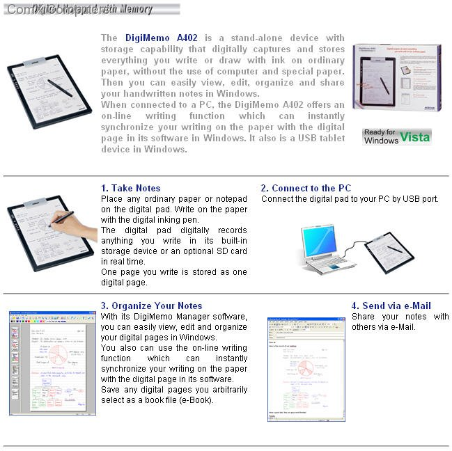 A402 Gallery Image 2 Size 649 W X 648 H A4 Digital Notepad