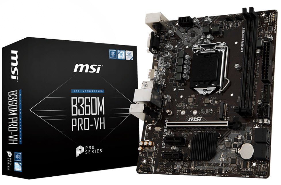 Specification sheet (buy online): MS-B360M PRO-VH MSI B360M