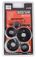 MSD4115 Noble 6 Piece Hole Saw 1/4 Inch Shanks